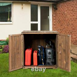 Outdoor Wooden Storage Shed Fir Wood Cabinet withDouble Doors for Garden Yard