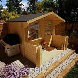 outdoor wooden summer garden house work home office shed big log cabin 25 x 2 m