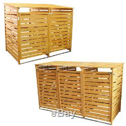Outdoor Wooden Wheelie Bin Store Garden Cupboard Shed Dustbin Storage Cover Unit