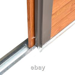 Outsunny 6x5FT Garden Shed Wood Effect Tool Storage House Sliding Door Woodgrain