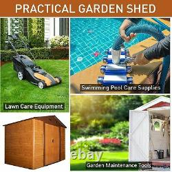 Outsunny 9 x 6ft Garden Shed Wood Effect Tool Storage Sliding Door Wood Grain