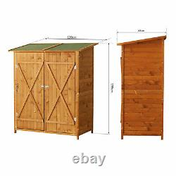 Outsunny Garden Shed Cabinet Box Unit Tool Storage Shelves Wooden Toolbox