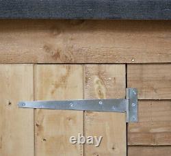 PENT OVERLAP STORE 6' x 2'9 WOODEN GARDEN STORAGE DOUBLE DOOR FELT FLOOR FIXINGS