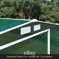 Partner Eco Metal Garden Shed Heavy-Duty Galvanised Steel Apex Storage Unit