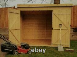 Pent Garden Shed 7x3 Shiplap Pressure Treated Tanalised Double Door Left