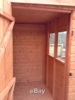 Pent Garden Shed Full Heavy Duty Tongue & Groove Wood Including Roof & Floor