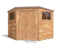 Pent Roof Wooden Garden Storage Building Workshop Dad Corner Shed W2.4m x D2.4m