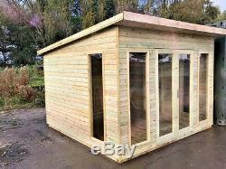 Pent Shed Summerhouse Log Cabin Garden Office Apex Summer House Man Cave Sheds