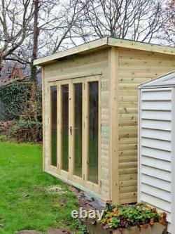 Pent SummerHouse Shed Garden Office High Quality Bi Folding Doors Summer House