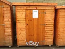 Pinelap 5x3 Wooden Tool Shed Fully T&G Garden Store 5FT x 3FT Outdoor Hut