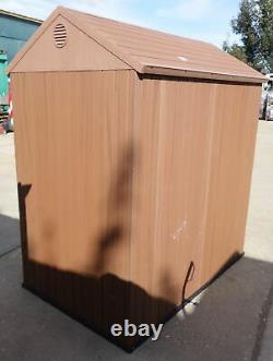 Pre-Built Keter Darwin 6x4 Home Garden Apex Shed Evotech+ Wood Effect Finish #1