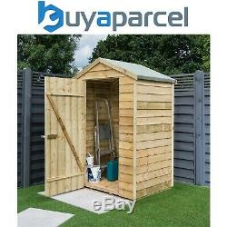 Rowlinson 4x3 Overlap Wooden Garden Shed Storage Apex Roof Timber