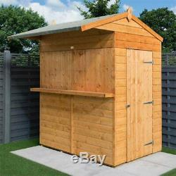 Rowlinson Garden Bar Shed Outdoor Wooden Drinks Hatch Patio T&g Wood Store New