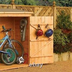 Rowlinson Shiplap Wooden Wallstore Garden Bike Shed Lockable Storage Unit