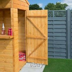 Rowlinson Wooden Garden Bar Summer Party Outside Home Bar Storage Shed