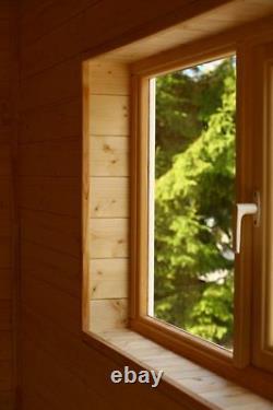 SAUNA CABIN SHED Outdoor wooden garden, better than barrel HARVIA WOOD FIRED