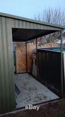 Secure Storage 17x12ft Car Garage, Motorbike Workshop Garden Equipment Shed Wood