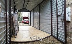 Shed or Motorbike Garage 7x14ft Secure Bike Garden Storage Wood Motorcycle Safe