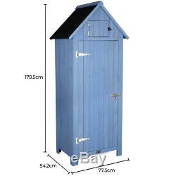 Small Garden Shed Slim Compact Wooden Outdoor Storage Lockable Door 6ft Christow