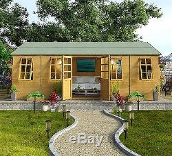 Summer House EXTRA LARGE Shed Garden Outdoor Workshop Patio Design Cabins  20x10