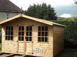 Summer House Garden Room 12X10ft Man Cave Wooden Workshop Shed free fitting