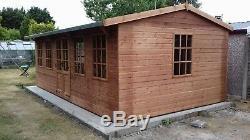 Summer House Garden Room Man Cave 25x10ft Workshop Shed