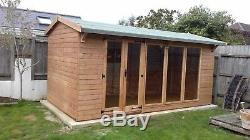 Summer House Shed Man Cave Garden Room 16x8ft Wooden Building free fitting