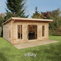 Summerhouse Log Cabin Garden Shed Storage Windows Large Outdoor Wood Chalet