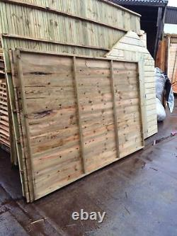 Tanalised Wooden Garden Shed 8x6 Apex Pinelap Hut Factory Seconds Item. T&G