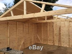 Timber garage, Workshop, garden shed
