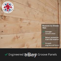 Tongue and Groove Wooden Garden Shed Windowless Pent Premium Roof Floor Felt