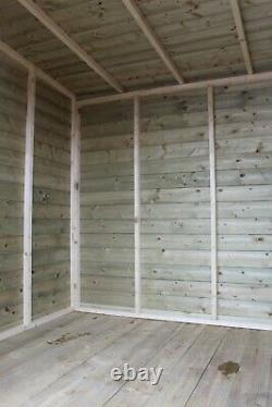 Total Sheds Pent Pressure Treated Tanalised Garden Wooden Shed 24mm Tan Floor