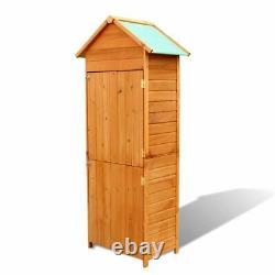 VidaXL Garden Wooden Cabinet Waterproof Outdoor Tool Storage Shed Cabin Box