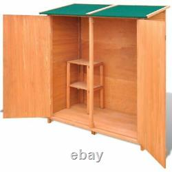 VidaXL Wooden Shed Garden Tool Shed Storage Room Large Outdoor Cabin House