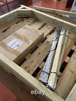 Wheelie Bin Storage Triple Wooden Store Outdoor Garden Cupboard Dustbin Shed