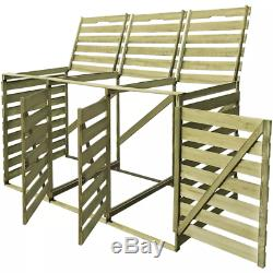 Wood FSC Garden Wheelie Bin Storage Shed Single/Double/Triple 240L Garbage Bin
