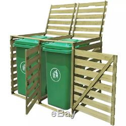 Wood Impregnated Wheelie Bin Shed Single/Double/Triple Garden Storage 240L Cover