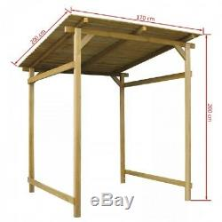 Wooden BBQ Shelter Inclined Roof Solid Wood Garden Tools Storage Shed Barbecue