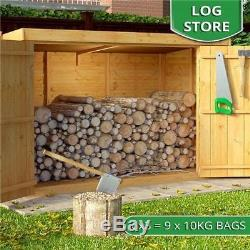 Wooden Bike Shed Storage Garden Bicycle Store Outdoor Tools Patio Cabinet Box