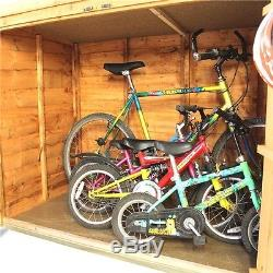 Wooden Bike Storage Shed Outdoor Garden Tools Mower Store Cabinet Box 3x6  Ft BN