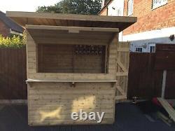 Wooden Garden Bar. Shed Bar. 6x4