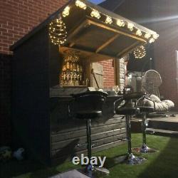 Wooden Garden Bar. Shed Bar. 6x4 Outdoor Bar