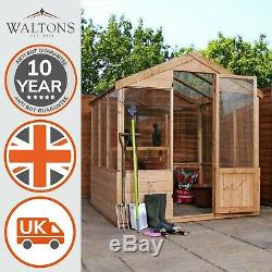Wooden Garden Greenhouse 6x6 Outdoor Potting Shed Storage Tongue & Groove 6ft6ft