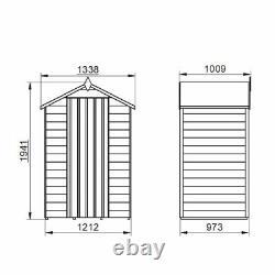 Wooden Garden Outdoor Storage Overlap Shed Waterproof Apex 4x3 FT Free Delivery