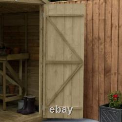 Wooden Garden Outdoor Storage Overlap Shed Waterproof Pent 6x3 FT Free Delivery