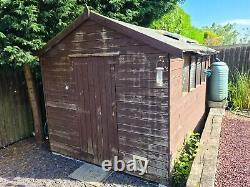 Wooden Garden Shed 10 x 6 with Solar Panel