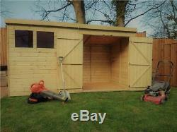Wooden Garden Shed 10x4 12x4 14x4 Pressure Treated Tongue And Groove Pent Shed
