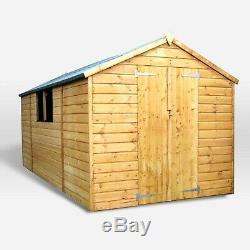 Wooden Garden Shed 13x7 Outdoor Workshop Building Shiplap 13ft 7ft
