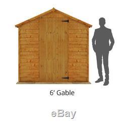 Wooden Garden Shed 4x6 Door Apex Roof Outdoor Patio Storage Tools Home Furniture