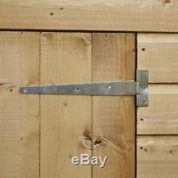 Wooden Garden Shed 6x3 Shiplap Storage Windowless Double Door Pent Roof 6ft 3ft